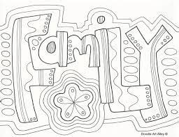 image result  zentangle words family coloring pages