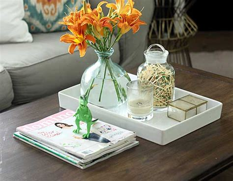 coffee table styling  shabby creek cottage