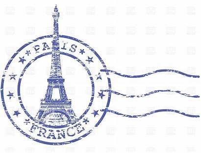 Paris Stamp Clipart Clip Postmark Tower Eiffel