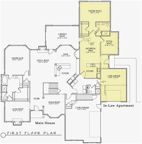 mother  law suite floor plans house floor plans multigenerational house plans  law