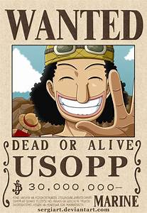 One Piece - Usopp wanted poster? by SergiART.deviantart ...