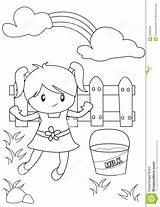 Coloring Little Backyard Cute Playing Patio Template Useful Templates Pages Illustration Sketch sketch template