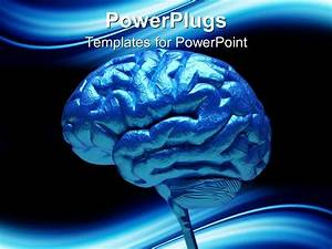 powerpoint template close up of blue human brain 3712 With brain powerpoint templates free download