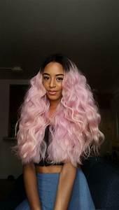 black girl with pink hair, pastel hair, pastel pink ...
