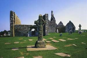 Clonmacnoise, Co Offaly, Ireland, West Photograph by The