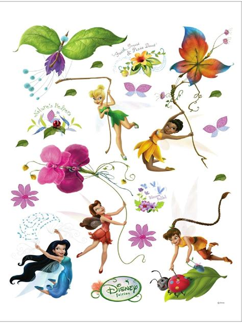 disney fairies maxi stickers muraux fee clochette