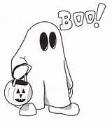 Ghost Coloring Printable Halloween Clipart Holy Sheet Outline Simple Kolorowanki Dzieci Duch Dla Cartoon Colouring Poney Liro Colorear Dibujos Clipartmag sketch template