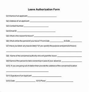 sample leave authorization form 5 free documents in pdf With documents leaving job