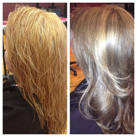 hair color correction major color correction from someone else that bleached out