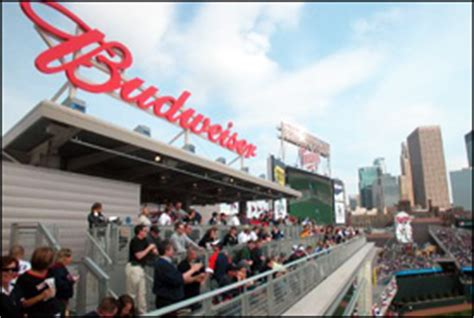 budweiser roof deck group information minnesota twins