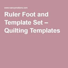 ruler foot and template set on