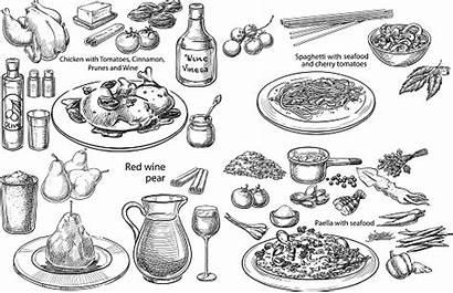 Mediterranean Dishes Vector Sketch Diet Bigstock