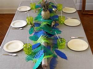 Deco Table Tropical : jungle fever rose caramelle carnet d 39 inspiration ~ Teatrodelosmanantiales.com Idées de Décoration