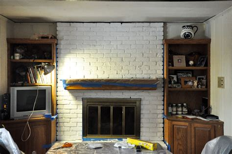 how to paint a brick fireplace how to paint your brick fireplace and totally freak out