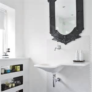 bathroom mirrors with storage ideas white bathroom with black mirror modern bathroom bathroom mirror image housetohome