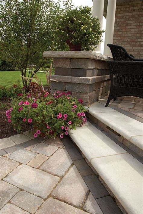 Unilock Steps - 40 best images about homeowner retaining garden walls on