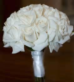 White Rose Bridesmaid Bouquets