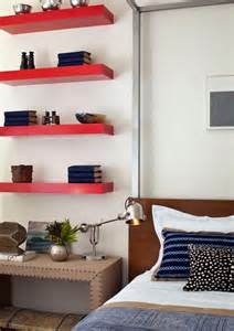 Floating Wall Shelves Decorating Ideas Bedroom