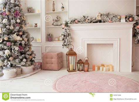 Living Room Color Pink by Living Room In White And Pink Colors With