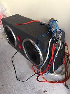 Dual Sony Xplod 1000w Subwoofers With Enclosure Box