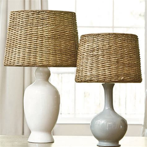 Stripe Lamp Shade by Dareau Woven Rattan Lamp Shade Farmhouse Lamp Shades