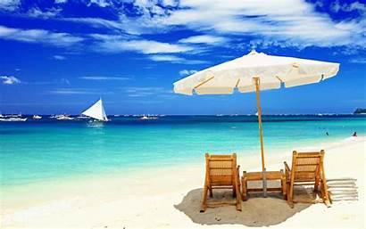 Beach Chair Windows Desktop Backgrounds Beaches Nature