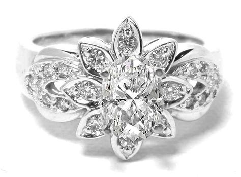 flower diamond wedding ring inspirations bridalore