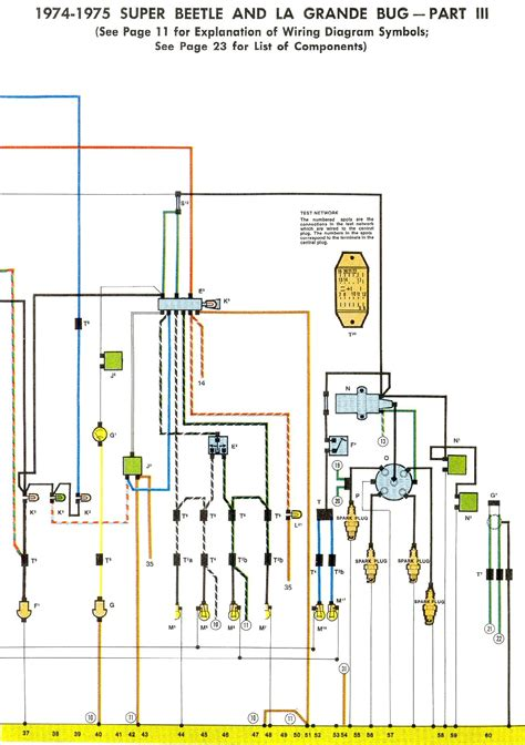 1973 Vw Beetle Light Wiring Diagram Taillight by 1974 75 Beetle Wiring Diagram Thegoldenbug