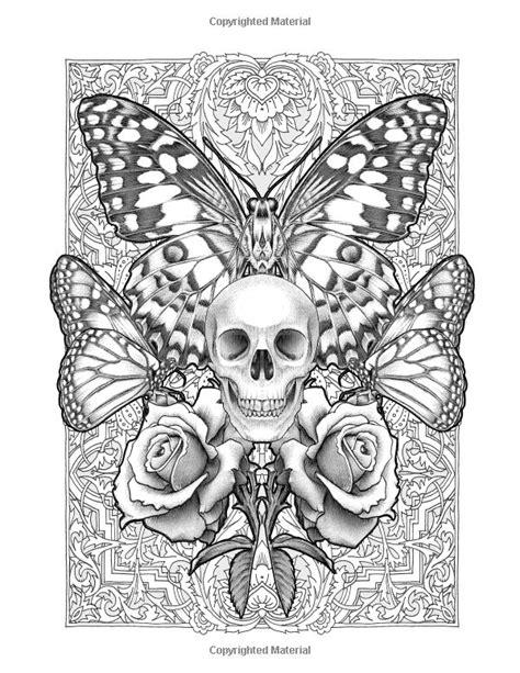 Colour My Sketchbook WILD: Bennett Klein: 9781544130415: Books - Amazon.ca | Skull coloring