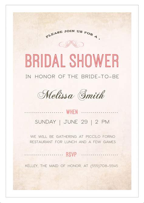 wedding shower invitation template 30 best bridal shower invitation templates sle templates