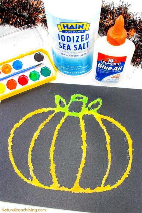 halloween pumpkin salt painting  kids