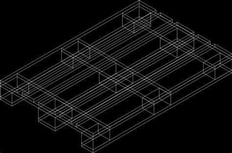 wooden pallets  dwg model  autocad designs cad