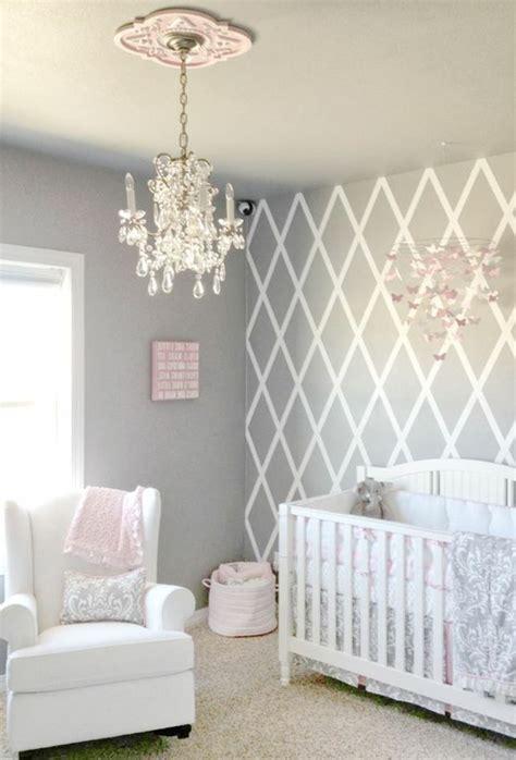 ideen fuer babyzimmer maedchen graues kinderzimmer