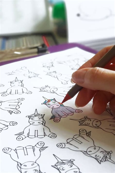 cute unicorn coloring pages printable  magical mess