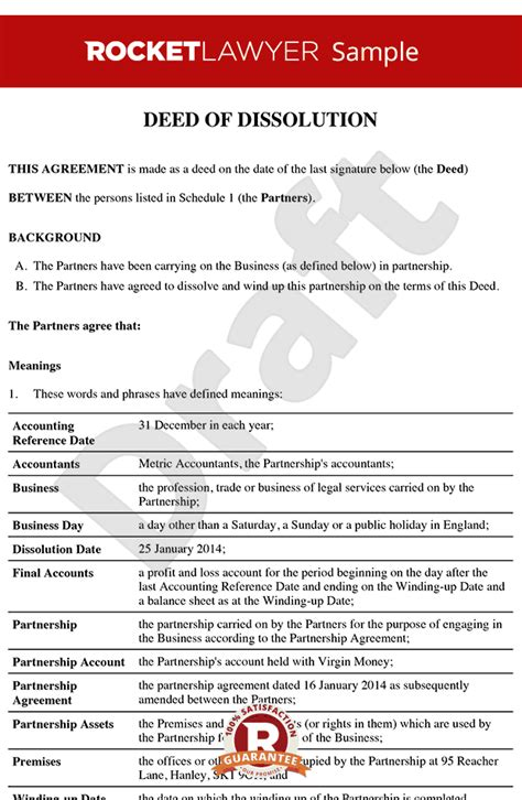 trust dissolution template doc free contract for deed beautiful printable quitclaim deed