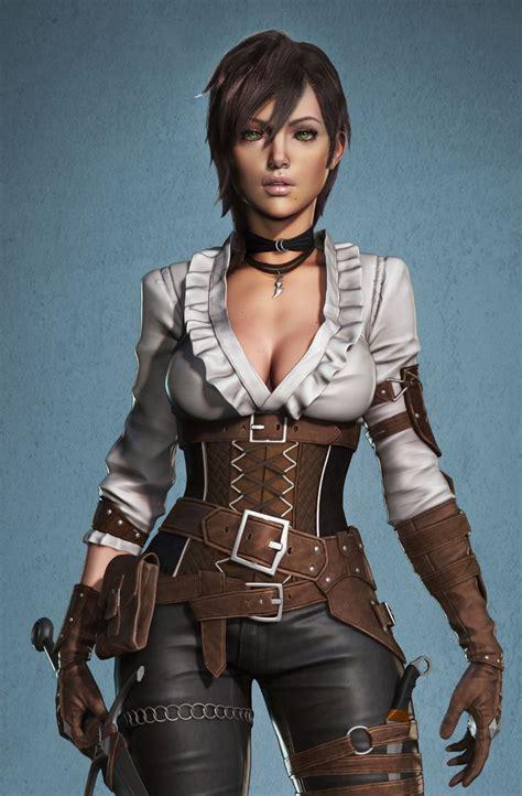 ArtStation - Female assassin Zbrush course, 😃Nikolay ...