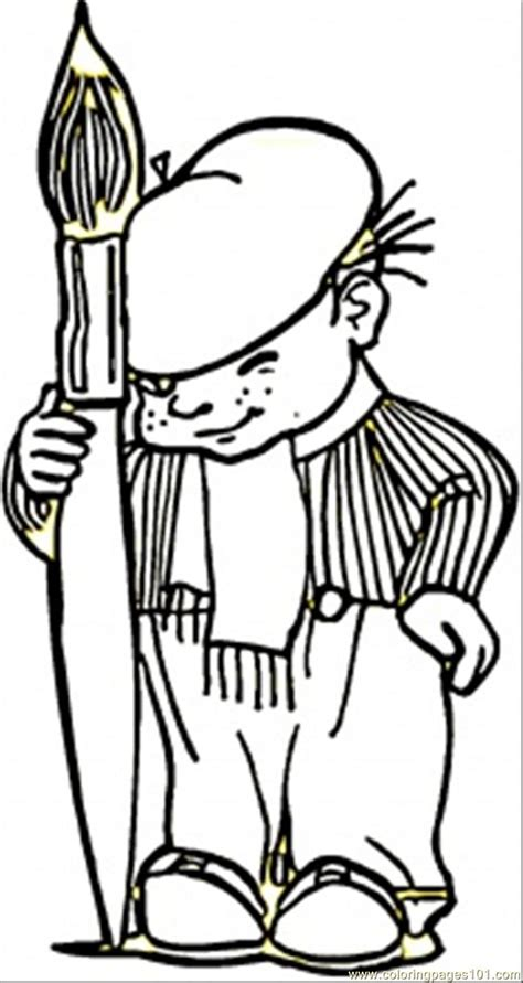 young french painter coloring page  france coloring