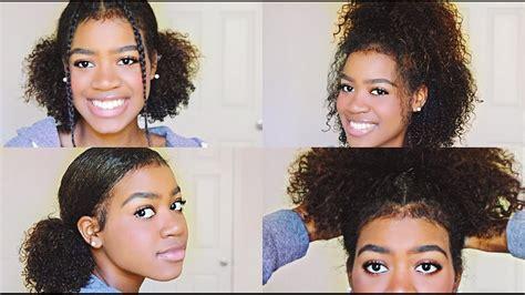 easy  cute hairstyles  medium length curly hair