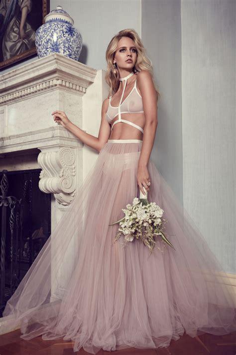 chateau lamour bridal lingerie polka dot bride