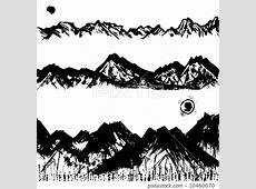 矢量 毛笔 山图库插图 [10460070] PIXTA