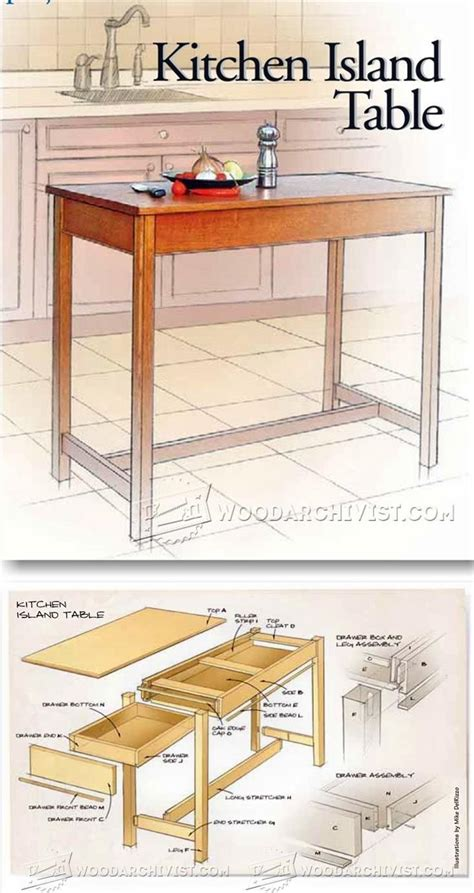 kitchen island table plans kitchen island table plans furniture plans and projects