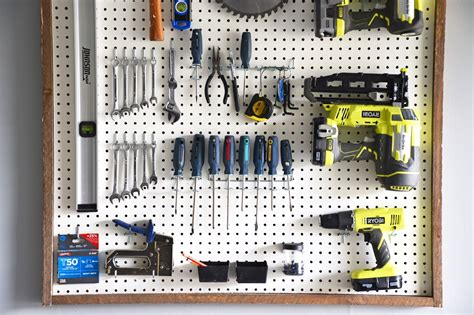 Garage Organization Pegboard by In Real The Of The Everyday Garage