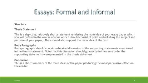 Formal Essay Topics  Cfcpoland Informal Essay Definition Paper Example Exemplification