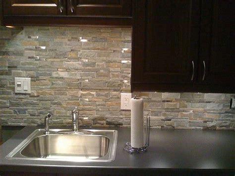 backsplash natural stone log home kitchens backsplash