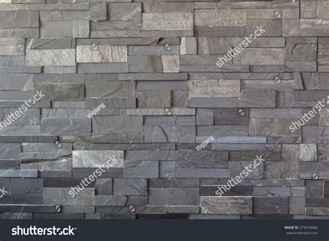 Dark Grey Stone Tile Texture Brick Stock Photo 274424666