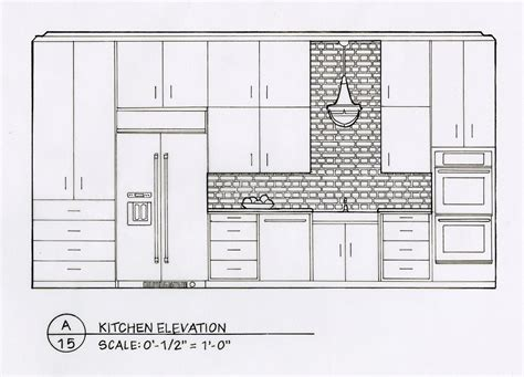 detailed elevation drawings kitchen bath bedroom