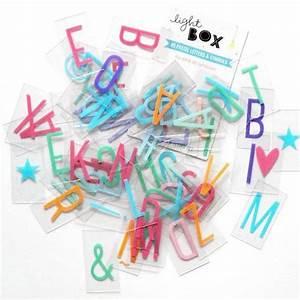 Lettre Pour Lightbox : set de lettres pastels pour lightbox a little lovely company ~ Teatrodelosmanantiales.com Idées de Décoration