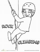 Climbing Coloring Rock Worksheet Education Pages Sports Worksheets Rocks Grade Boys Child Sport Read Teaching sketch template