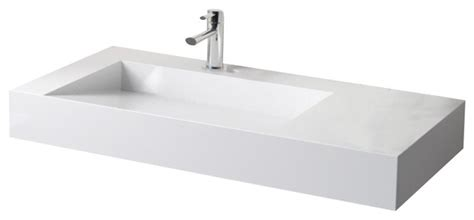 Badeloft Stone Resin Wall-mounted Sink-contemporary
