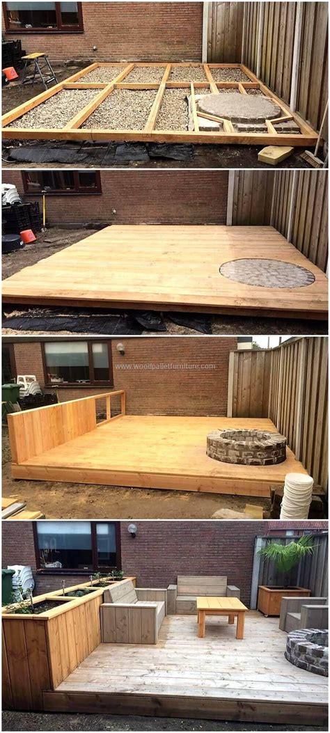 diy ideas  wood pallet garden terrace diy motive